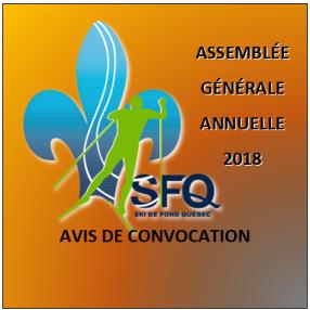 Assemblée générale annuelle 2018 de SFQ