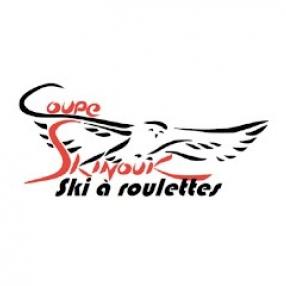 course de ski à roulettes Skinouk